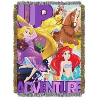 """Disney's Princesses """"Up For Adventure"""" 48"""" x 60"""" Woven Tapestry Throw"""