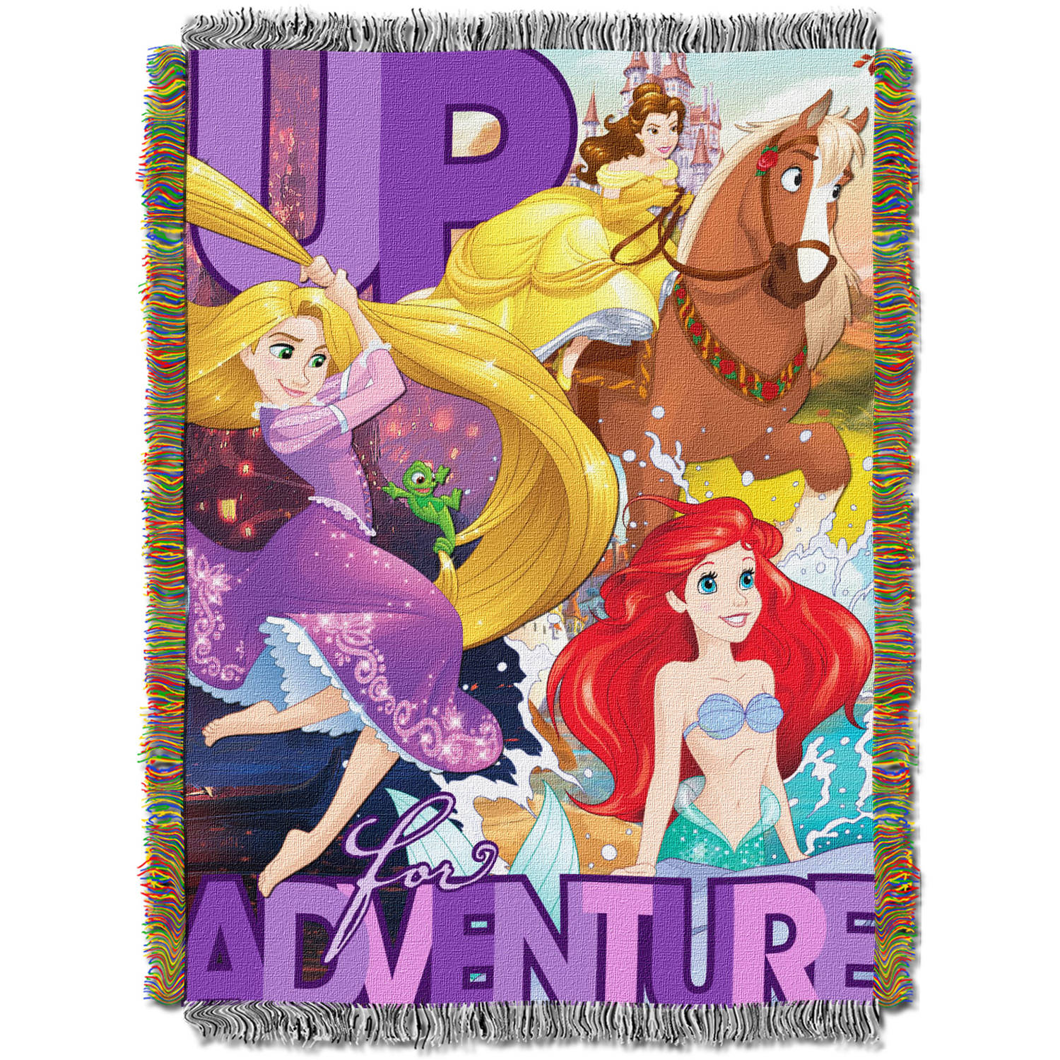 "Disney's Princesses ""Up For Adventure"" 48"" x 60"" Woven Tapestry Throw"