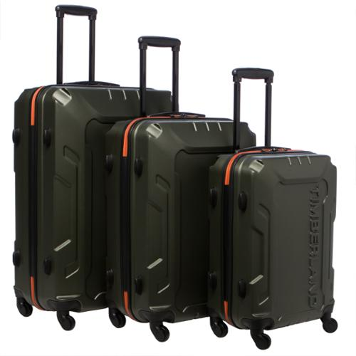 Timberland Boscawen 3-piece Hardside Spinner Luggage Set Olive