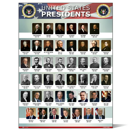 USA Presidents of the united states Of America poster NEW chart LAMINATED Classroom portrait school wall decoration learning history flag metal - Fall Classroom Decorations