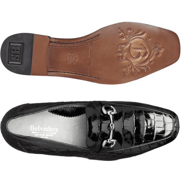 Belvedere Vodka Men S Shoes Gerald Alligator Slip On Loafer Black 1024 Free Shipping Walmart Com