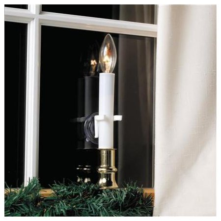 Pack Of 4 Christmas Candle Holders Suction Cup Window