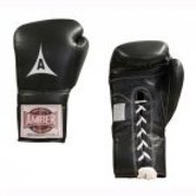 Amber Sporting Goods ABG-3007-8-B Professional Laceup Gloves 8oz