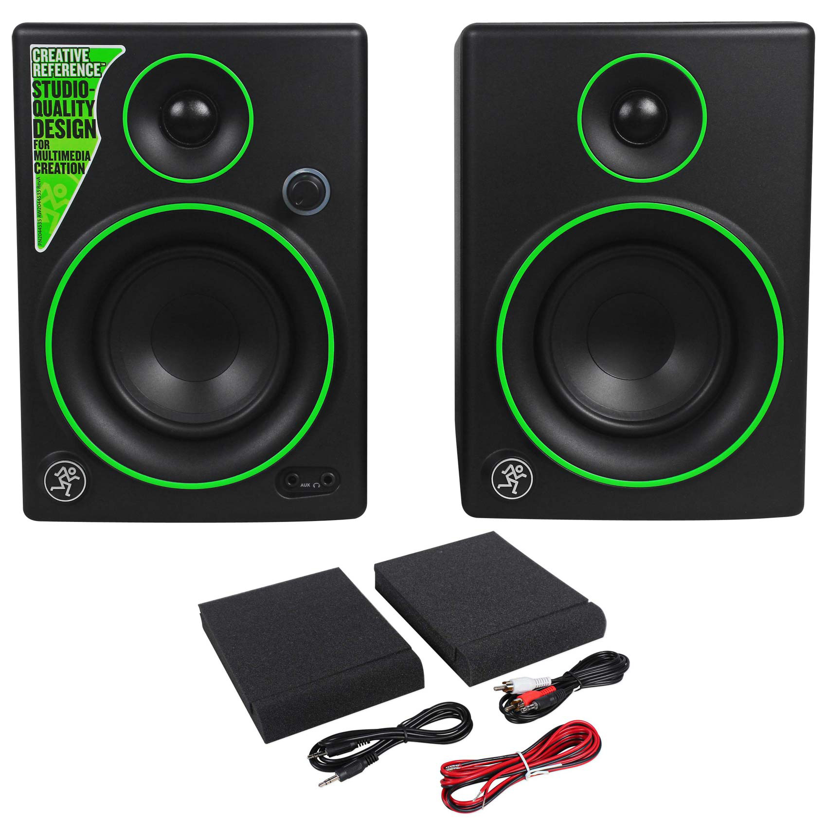 """Pair Mackie CR4 4"""" Gaming Twitch Streaming Computer Speakers Monitors"""
