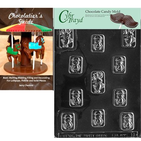 Cybrtrayd Assorted Chick Pieces Easter Chocolate Candy Mold with Our Chocolatier's Guide Instructions Manual