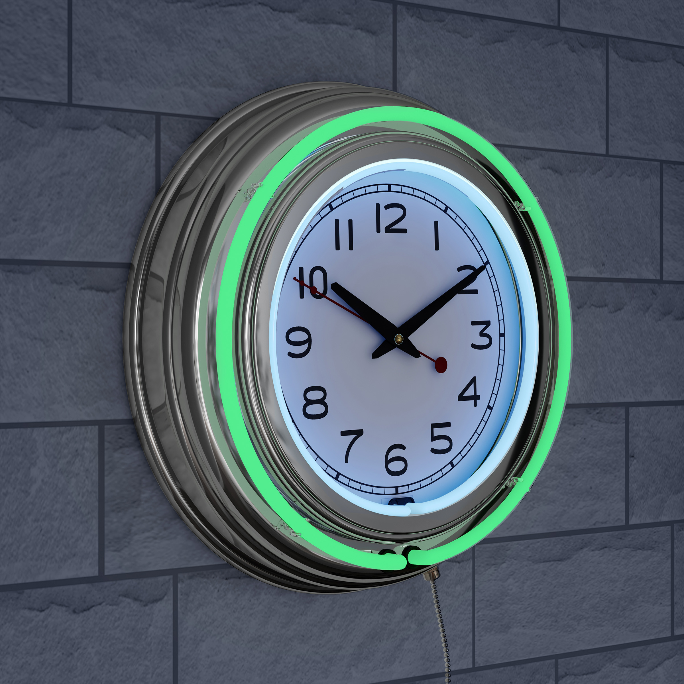 Navy Blue Neon Clock 7 Designs with Personalized Option U.S