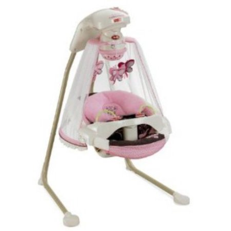 Fisher Price Butterfly Cradle N Swing Walmart