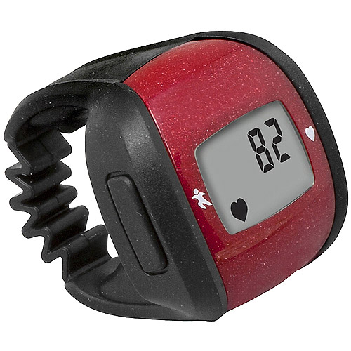 HealthSmart Ring Heart Rate Monitor, Red