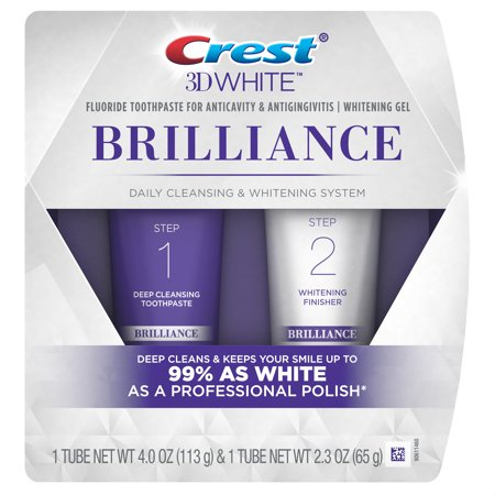 Purpose Gel Toothpaste (Crest 3D White Brilliance Daily Cleansing Toothpaste and Whitening Gel System (Choose)