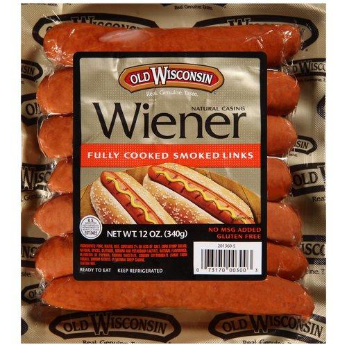 Old Wisconsin Natural Casing Wiener, 7 count