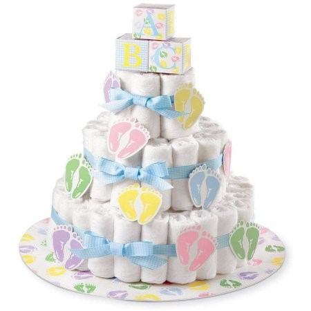 Wilton Baby Shower Baby Feet Diaper Cake Kit, 1 Ct