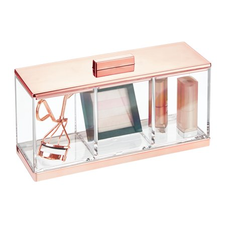 mDesign Divided Vanity Makeup Organizer Storage Canister Box - 1 - The Vanity Box