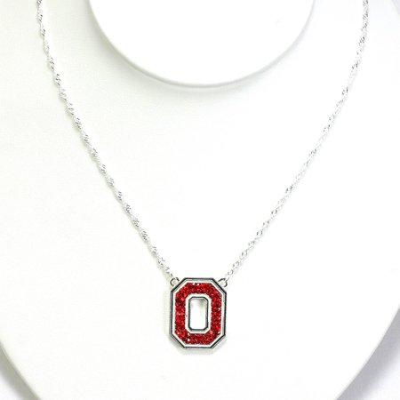 Ohio State University Crystal Logo Necklace