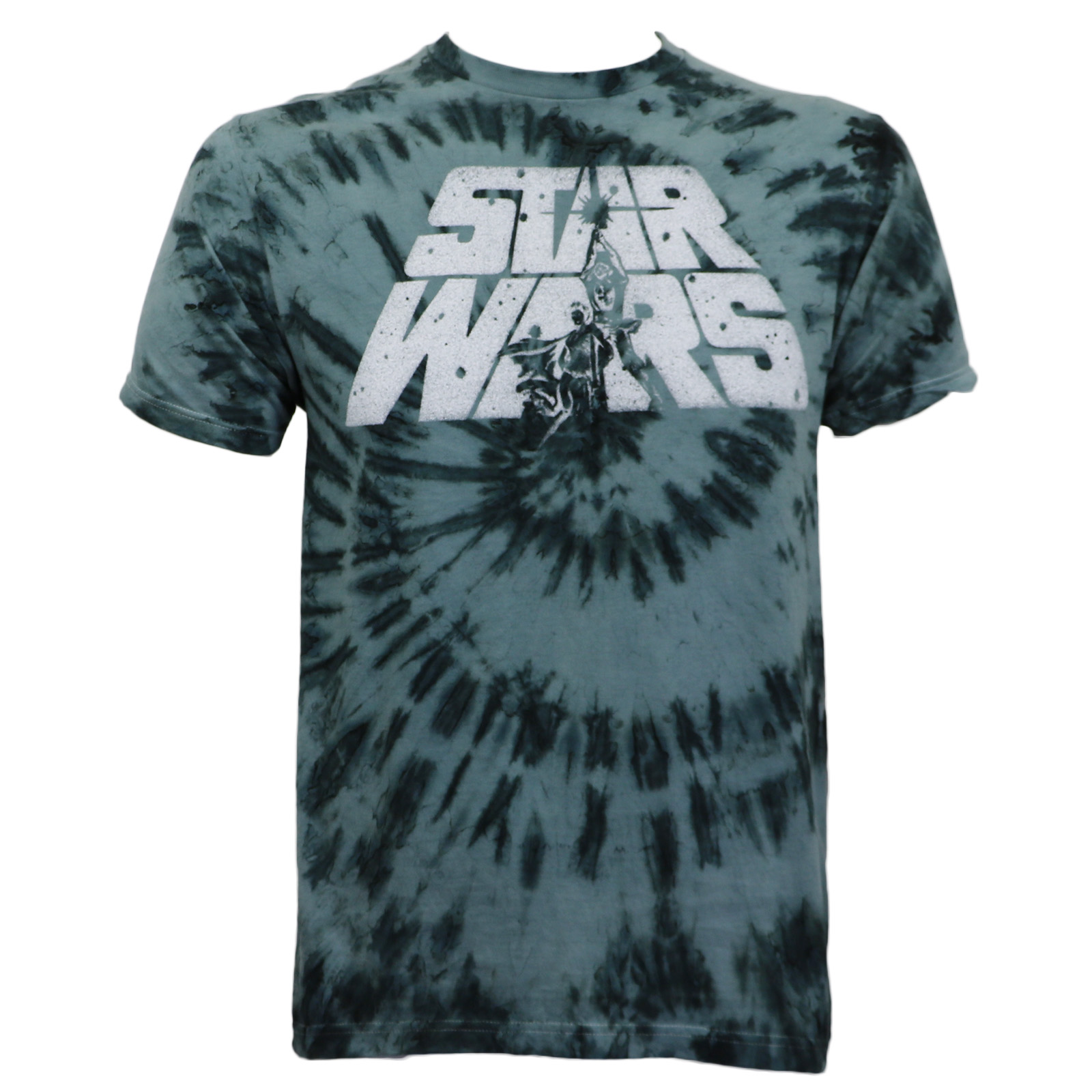 Star Wars Mens Cover Logo Tie Dye Slim-Fit T-Shirt Charcoal