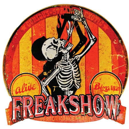 19in. Freak Show Carnival Sign Halloween Decoration