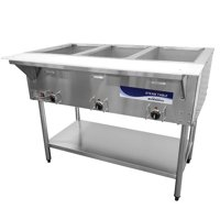 Turbo Air RST-3P Radiance Electric Hot Food Steam Table With 3 Wells
