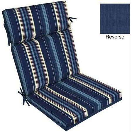 Better Homes Gardens Bhg Blue Stripe Dining Chair Cushion