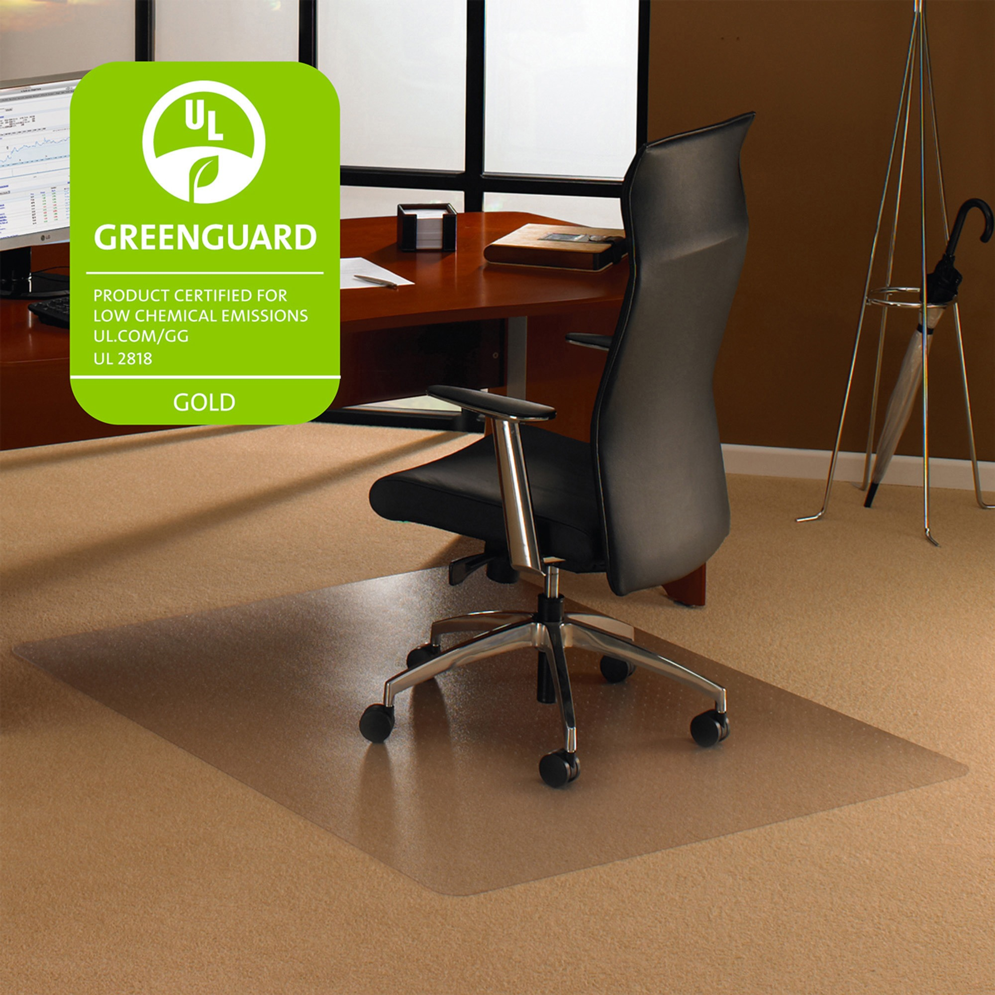 Floortex Cleartex Ultimat 35 x 47 Chair Mat for Low and Medium Pile Carpet, Rectangular