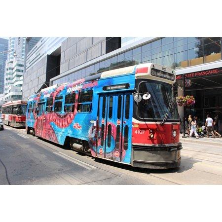 LAMINATED POSTER City Toronto Streetcar Urban Transportation Poster Print 24 x 36 - Halloween City Toronto