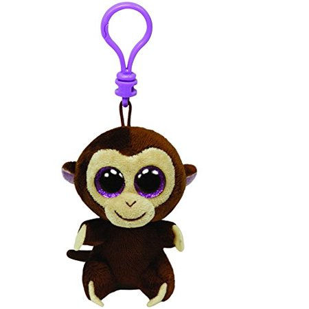 Cp Ty Beanie Boos Coconut the Monkey Clip With Glitter Eyes - Beanie Boo Coconut