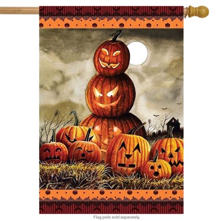 Calico Jacks Flag - Halloween Jack O'Lanterns House Flag Holiday 28