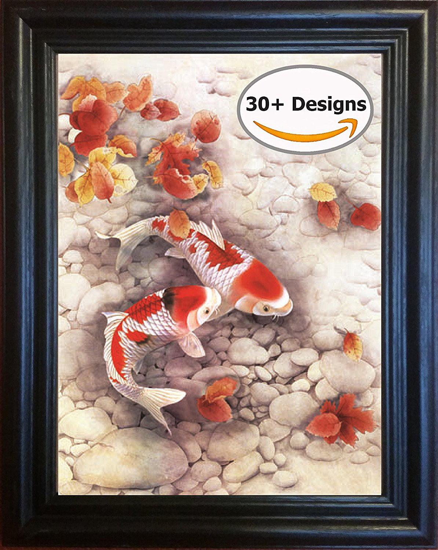 Framed Koi Fish Lenticular Poster 3d Art Company - Walmart.com