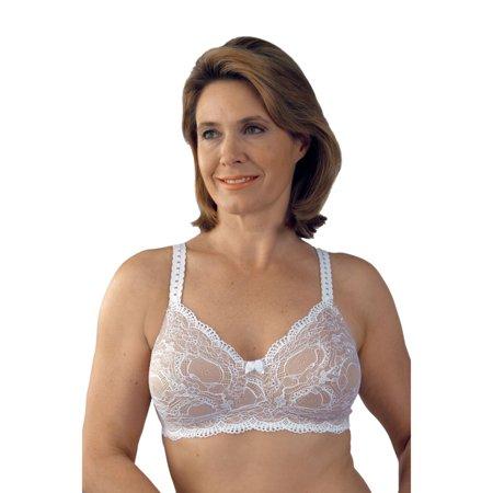 Classique Post - Classique 779 Post Mastectomy Fashion Bra-White/Skin-44A