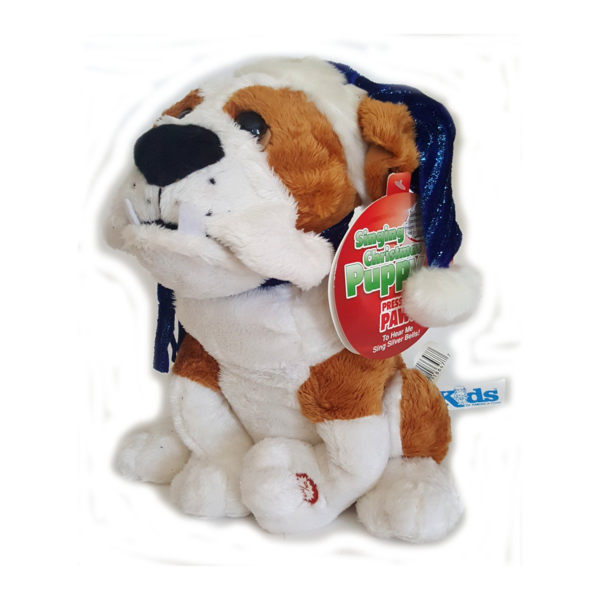 Kids of America Singing Christmas Puppy Bulldog Sings Silver Bells