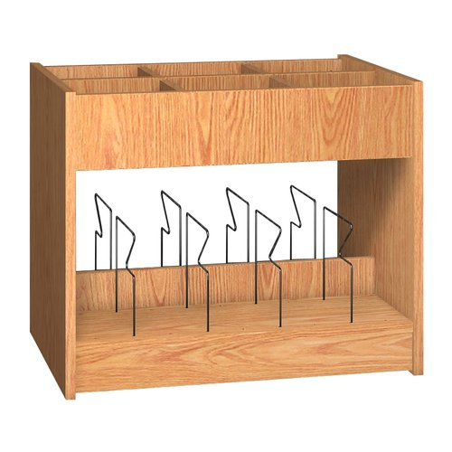 Ironwood Glacier 6 Compartment Book Display with Bins