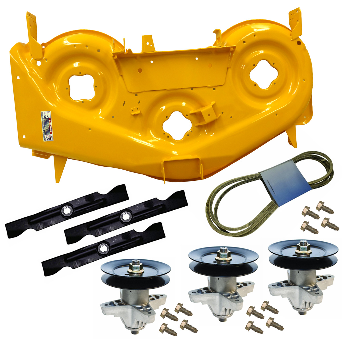 "Cub Cadet 50"" Deck Shell Replacement Kit (Yellow, RZT) for Lawn Tractors & Others   903-04328C-0716-KIT by Cub Cadet"