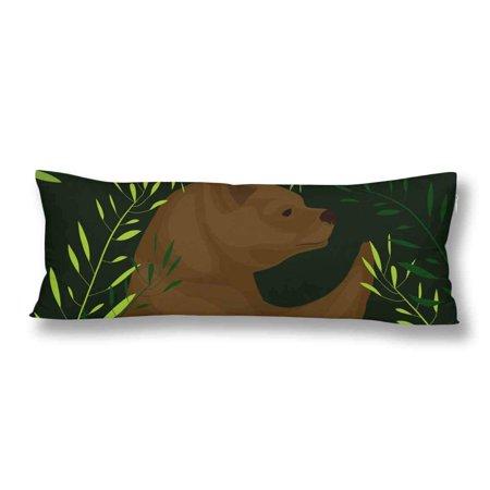 ABPHOTO Bear Body Pillow Covers Pillowcase Throw Pillows 20x60 inch ()