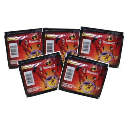 Panini - Disney / Pixar's The Incredibles 2 Sticker Collection - PACKS (5 Pack