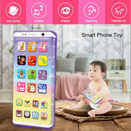 Smart Toys For Toddlers (Educational Multifunctional Smart Phone Toy With USB Port Touch Screen for Child Kid Baby , Kid Smart Phone Toy, Musical Smart Phone)