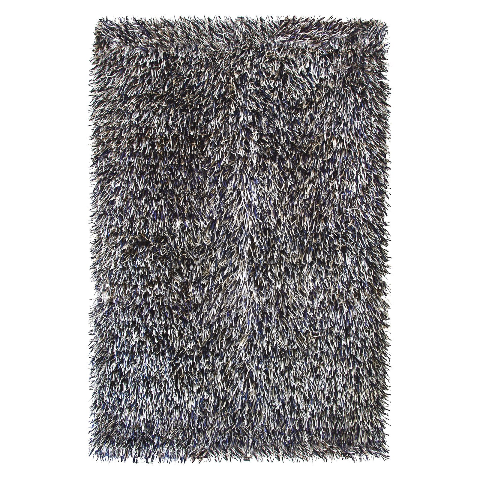 Foreign Accents Elementz Fettuccine Rug   3.5 X 5.5 Ft.   Silver