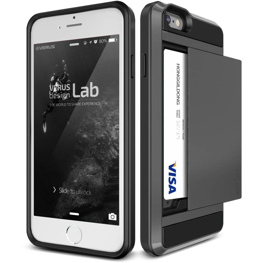 Verus Damda Slide Protective Shockproof Card Wallet Case for Apple iPhone 6/6S