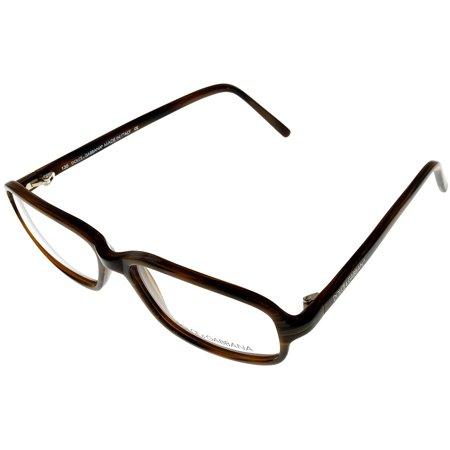 Dolce & Gabbana Prescription Eyeglasses Frames Unisex 550 558 Brown Rectangular Size: Lens/ Bridge/ Temple: 51-17-135