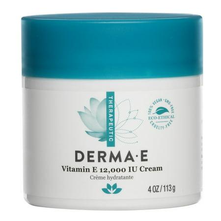 Derma E Vitamin E 12,000 IU Cream Body Lotion, 4.0 OZ (Derma E Cream)