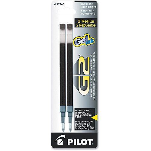 Pilot Refill for G2 Gel, Dr. Grip Gel/Ltd, ExecuGel G6, Q7, 2/Pack