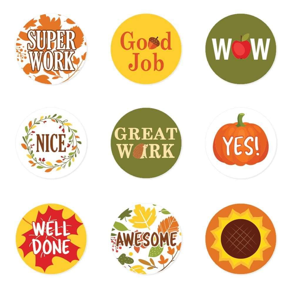 Fall reward stickers for kids 1080 ct motivational stickers school supplies for teachers classroom supplies fall stickers 1080 stickers walmart com