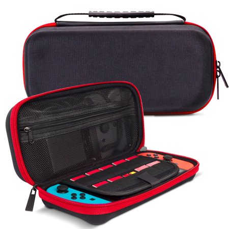 Miniature Carrying Case - TSV Portable Carrying Travel Bag Case for Nintendo Switch Game Console Travel Bag