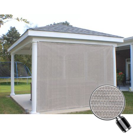 Alion Home Smoke Grey Sun Shade Privacy Panel with Grommets on 2 Sides for Patio, Awning, Window, Pergola or Gazebo  8' x 8'