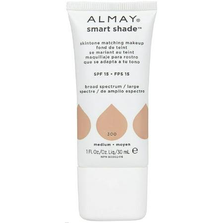 Almay Smart Shade Skin Tone Matching Makeup, Medium [300] 1 oz (Pack of