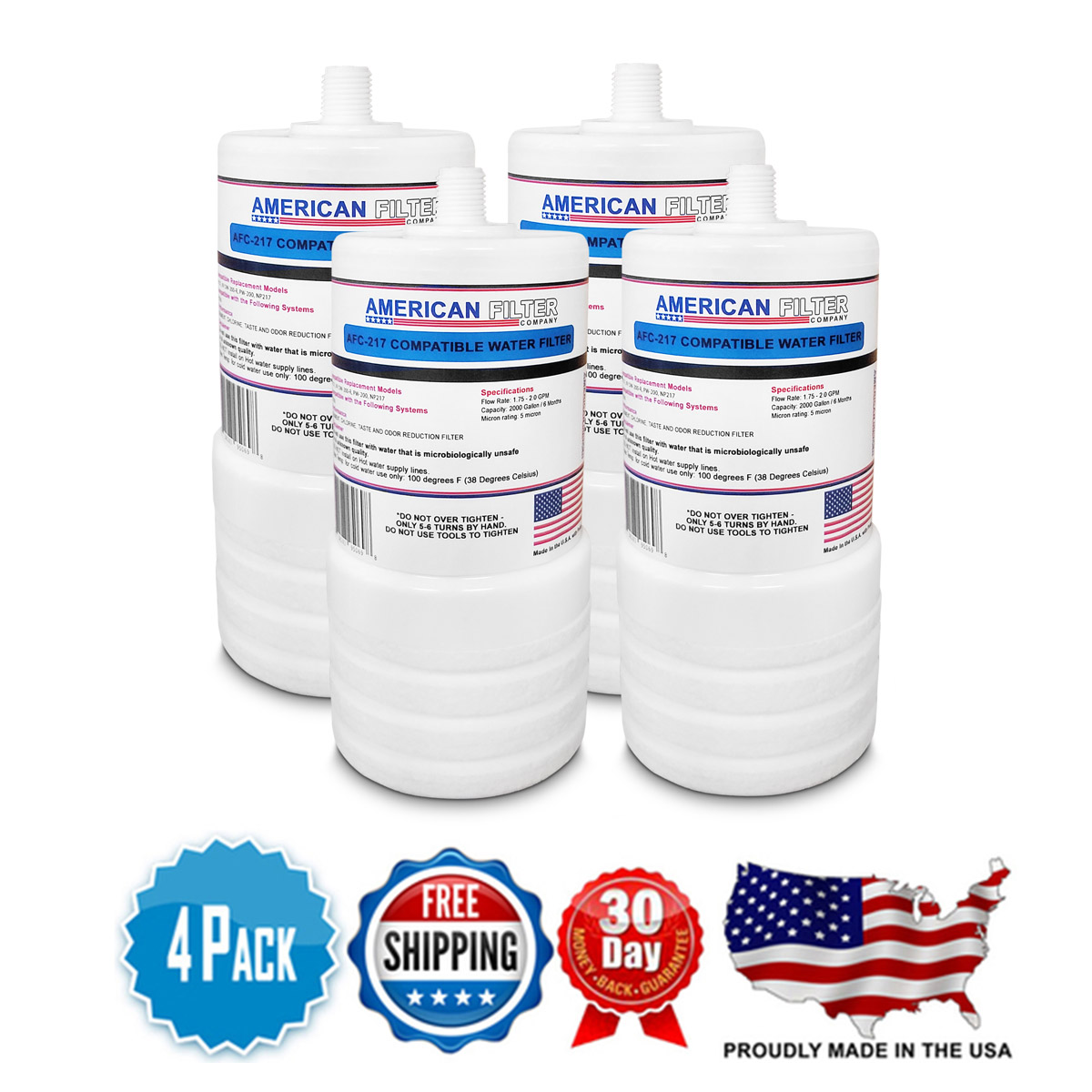 4 Pack Aqua-Pure™/3M AP217 Compatible Replacement Water Filter Cartridge