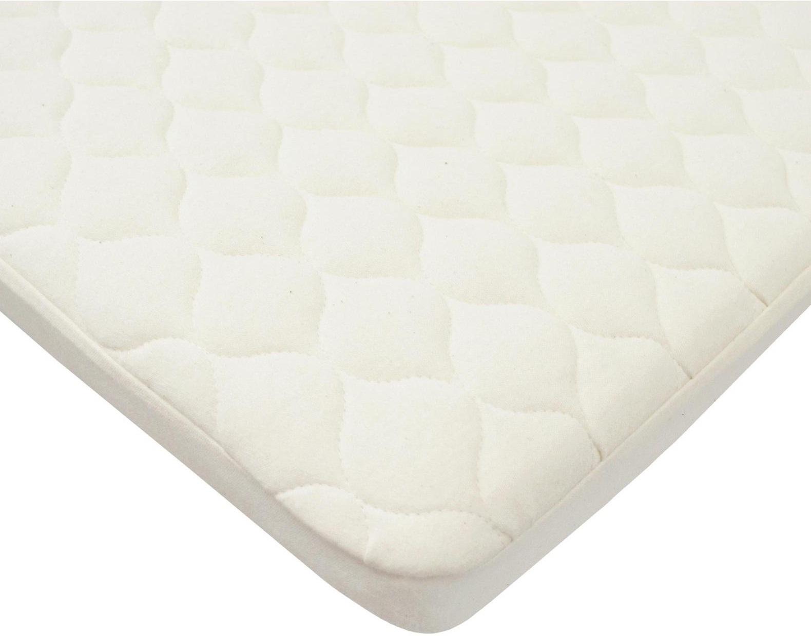 american baby company organic waterproof bassinet mattress pad