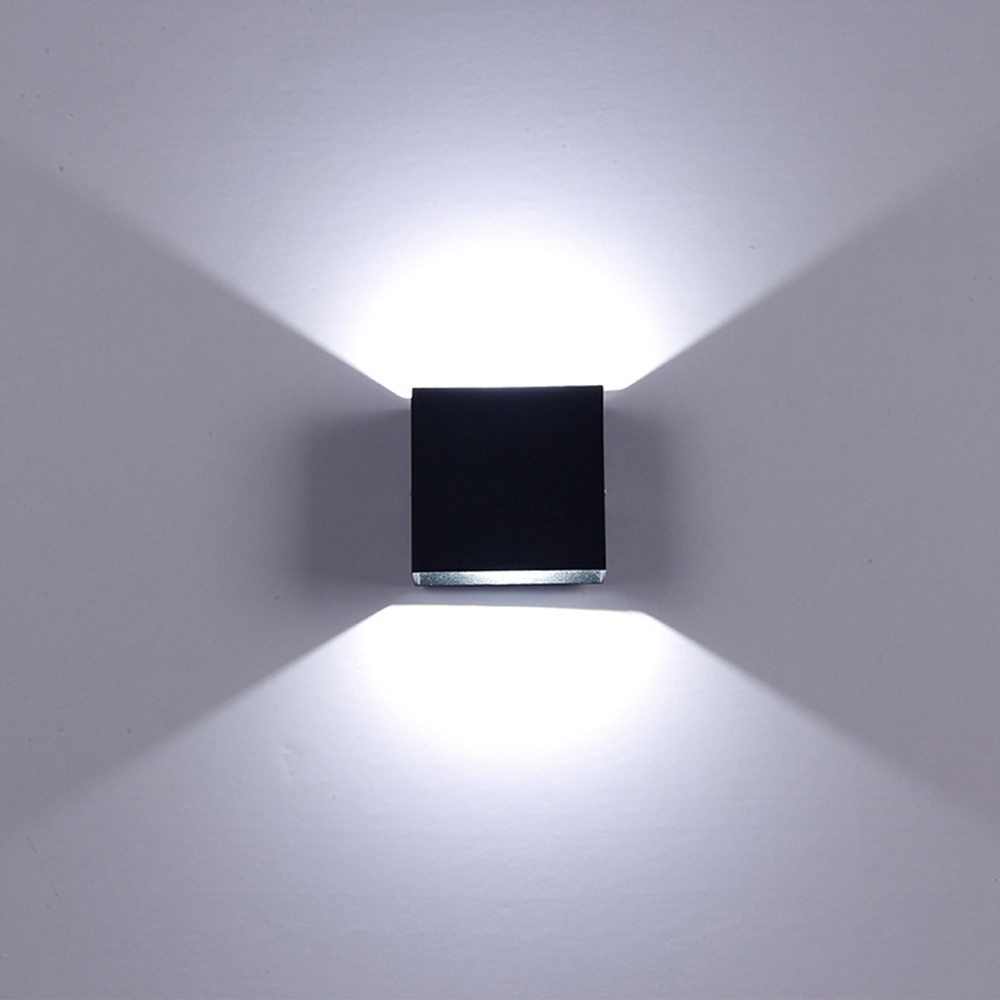 Indoor Modern COB LED Wall Light Up Down Cube Outdoor Sconce Lighting Lamp 6//12W
