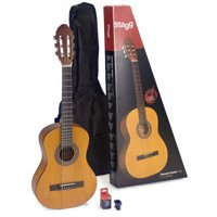 Stagg C430 M NAT PACK 3/4 Size Classical Guitar Pack with Tuner and Nylon Bag Included