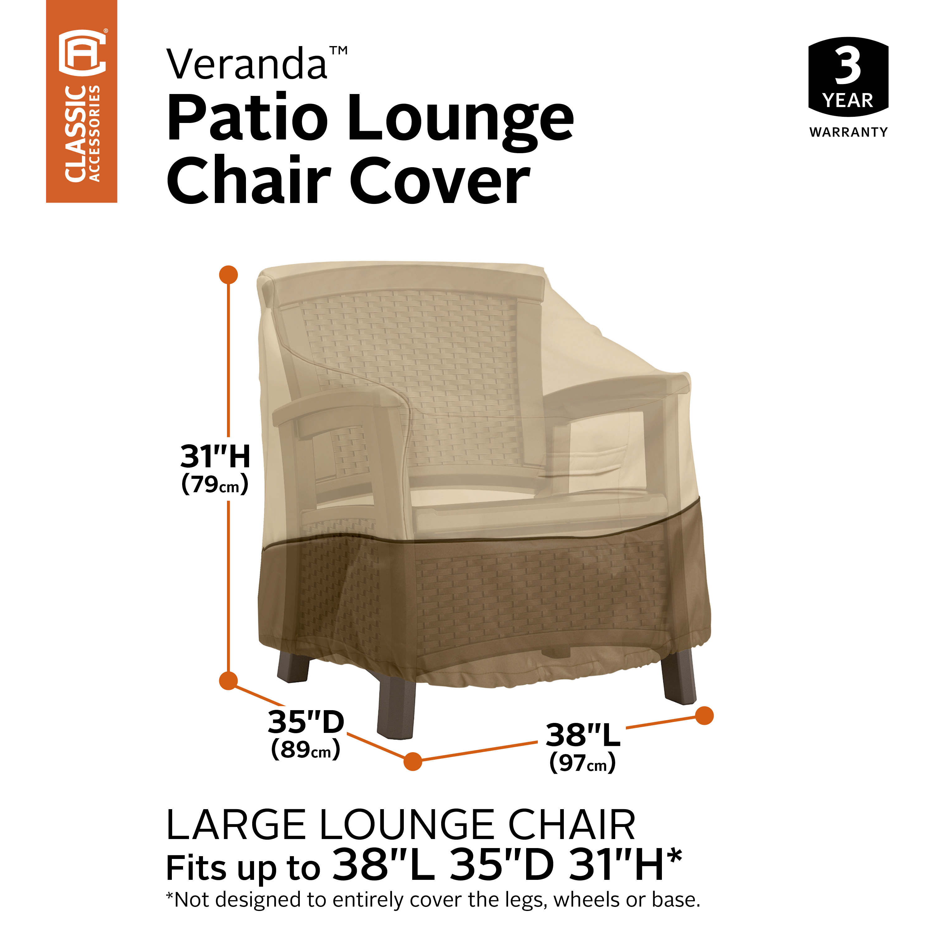 Deep Seat Lounge Chair Cover