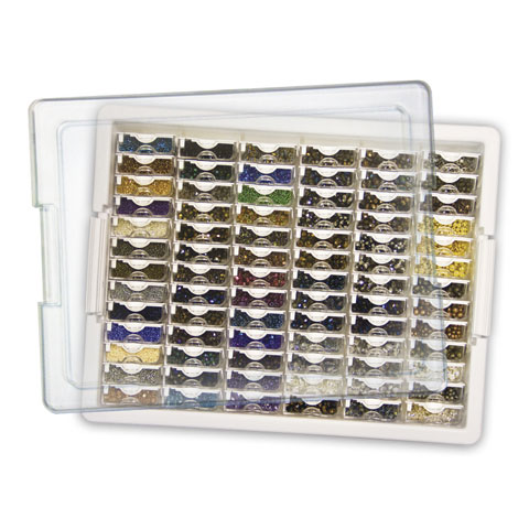 Darice Elizabeth Ward Tiny Bead Storage, 82 Pcs Assorted Bead Tray