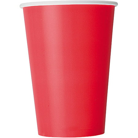 Paper Cups, 12 oz, Red, 10ct](Christmas Paper Products)