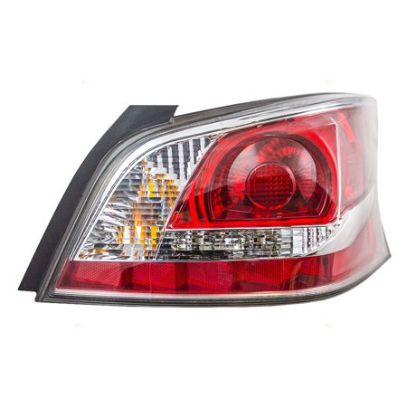 Passengers Taillight Tail Lamp Lens with Grey Edge Trim Standard Type Replacement for Nissan 26550-9HM0A, Brightness and clarity for maximum safety By (Light Replacement Lens Standard)